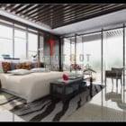 شقة غرفة نوم فاخرة مساحة داخلية مفتوحة