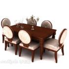 Tavolo per sei persone della famiglia americana