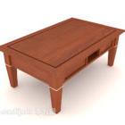 طاولة القهوة الأمريكية أريكة خشبية الماهوجني