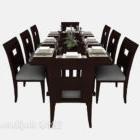 كرسي طاولة طعام أمريكي خشبي