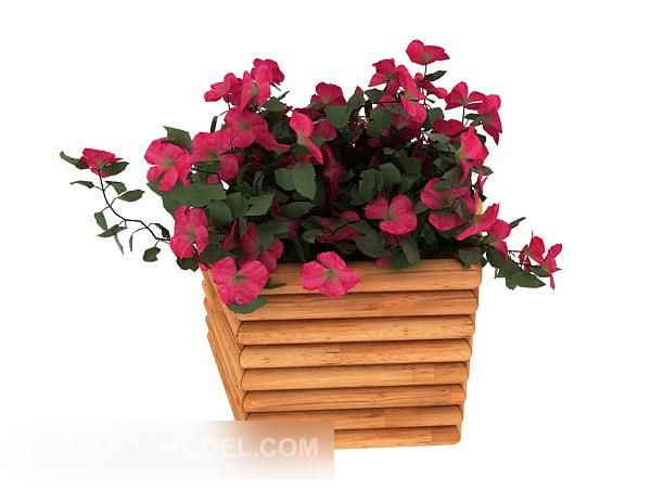Wood Flower Rack
