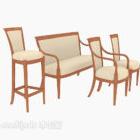 حزمة مجموعة كرسي المنزل