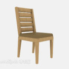 Back-to-back Solid Wood Home Chair