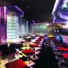 Bar bunte Beleuchtung Interieur