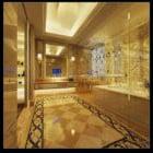 Warm Bathroom Hall Interior Decor