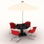 كرسي صالة الشاطئ مع مظلة