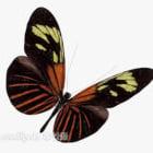 Czarny czerwony motyl