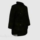 黒いコートの服
