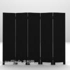 Black Screen Furniture Divider