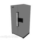 黒のダブルオープン冷蔵庫