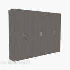 Black Four-door Wardrobe Furniture