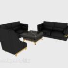 Sofa z czarnej skóry