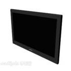 Platt svart minimalistisk tv