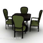 Black Table And Chair Combinatiom