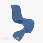 كرسي صالة باللون الأزرق الكل في واحد