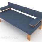ब्लू फैब्रिक सिंपल मल्टी-सीटर्स सोफा