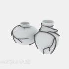Zweig Efeu auf Keramikvase
