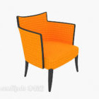 كرسي صالة قماش برتقالي