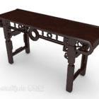 Brauner chinesischer Barkoffer Schreibtisch