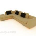 أريكة منزلية متعددة المقاعد باللون البني