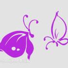 Dekoracje kwiatowe na ścianę motyla