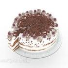 Kek Dengan Coklat Atas