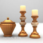 Kultaiset kynttiläkoristeet