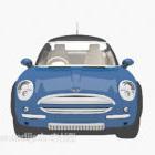 سيارة مطلية باللون الأزرق