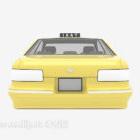 سيارة أجرة مطلية باللون الأصفر