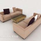 Wygodna, brązowa sofa