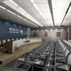 中国企業展示ホールデザインインテリア