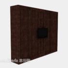Tv cinese a parete in legno