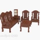 Chińska wykwintna drewniana sofa