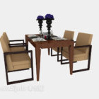 طاولة طعام صينية خشبية لاربعة اشخاص