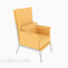 Chiński Żółty Pojedynczy Sofa Krzesło