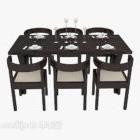 Tavolo da pranzo per sei persone in stile cinese