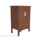 中国の小さな食器棚ブラウン木製