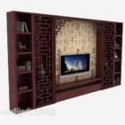 Tv sfondo muro di legno scuro
