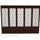 Chinese Wood Doors With Carved Frame