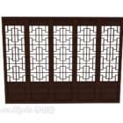 Chińskie Drewniane Drzwi Z Rzeźbioną Ramą