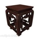 طاولة جانبية من الخشب الصلب الصيني