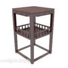 Chiński stolik z litego drewna