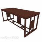 مكتب النمط الصيني خشبي