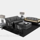 أريكة متعددة المقاعد على الطراز الصيني