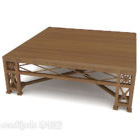 طاولة القهوة الخشبية الصلبة النمط الصيني