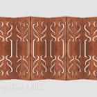 Ekran z litego drewna w stylu chińskim