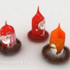 Świąteczne czerwone świece