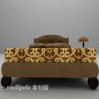 سرير مزدوج كلاسيكي مع منضدة