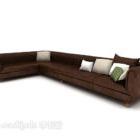 أريكة كلاسيكية متعددة المقاعد للمنزل