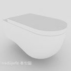 Czysta toaleta w kolorze białym
